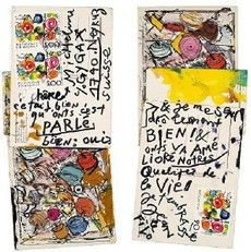 Mail Art and envelopes by the french artist Tinguely