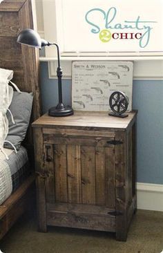 Rustic Wood Nightstand - like this better than my twig one