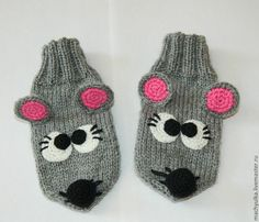 Little Mouses Gloves Crochet Mittens Pattern, Crochet Socks, Crochet Gloves, Knitting Patterns, Knit Crochet, Knitting For Kids, Crochet For Kids, Baby Knitting, Socks