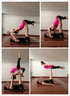 Partner yoga, for fun!