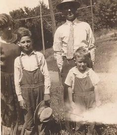 Future Farmers in Overalls, Vintage Photograph, Black and White Snapshot, Family Photo, Mom and Pop, Men in Hats, Rural Living by BettywasaBombshell on Etsy