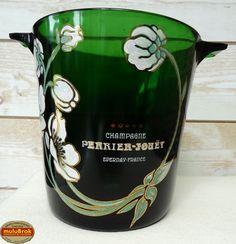 Objet Pub ... Seau à champagne PERRIER JOUET Epernay. France Belle Epoque
