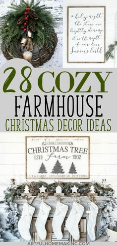 Farmhouse Christmas Decor Ideas to help you decorate your house this holiday season! Includes farmhouse Christmas style signs, ornaments, tree skirts, and farmhouse style Christmas stockings. Farmhouse Christmas Tree Skirts, Farmhouse Christmas Ornaments, Burlap Christmas Stockings, Christmas Tree Farm, Christmas Wreaths, Christmas Decorations, Holiday Decor, Christmas Post, Christmas Kitchen