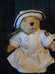 1997 Muffy Vanderbear Mercy Me Hospital Head Nurse bear with clipboard & tag Mercy Me, Clipboard, Picnic, Teddy Bear, Tags, Animals, Paper Holders, Animales, Animaux