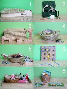 Montessori activities for toddlers // Actividades Montessori para niños