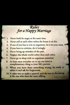 How to make marriage last?