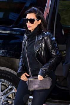 """7 Celeb-Favorite Sunglasses For Springtime #refinery29 http://www.refinery29.com/sunglasses-celebrities-love#slide-4 Kim Kardashian's flat-top frames say, """"Don't mess with me — or with Saint Laurent."""""""
