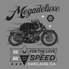 For The Love of Speed :: Pre-order the Megadeluxe T-Shirt We commissioned Damian King to illustrate our first t-shirt design. Visit Megadeluxe if you're interested in purchasing one (estimate $25-$30) and we'll reserve one for you. We're going to donate five dollars from every t-shirt sale to UNICEF to support its effort in the Philippines for those families devastated by Typhoon Haiyan. Cheers – The Megadeluxe Store Team