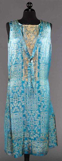 1 LAME & 2 BEADED FLAPPER DRESSES - 5