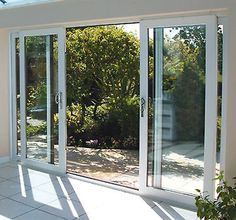 Details About White UPVC 4 Pane Sliding Patio Doors   Synseal 4200mm Wide X  2100mm High