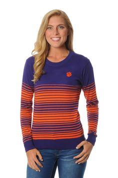 Clemson Tigers Striped Sweater