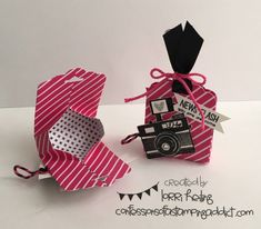 Ghiradelli Candy Holder :: Confessions of a Stamping Addict Lorri Heiling Pun Intended