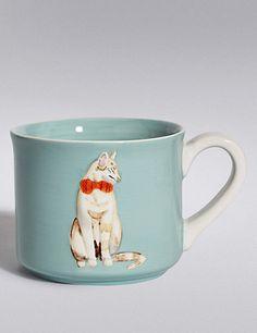 Embossed Cat Mug