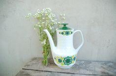 Vintage German MITTERTEICH white porcelain teapot by semivint