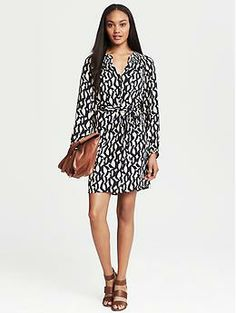 """Bold Print Shirtdress 