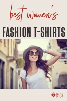 Always choose quality items that you can wear in the most situations. Avoid prints with logos or graphics. Pay attention to how the shirt falls on your body. Test out which neck style feels more flattering to you.Click through to check out more recommendations and options! #TravelFashionGirl #TravelFashion #TravelClothing #womentshirts #travelwardrobe #womenfashion #fashionoutfits