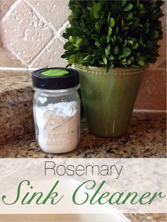 Tired of all the chemicals in sink cleaners? Try this easy homemade rosemary sink cleaner.