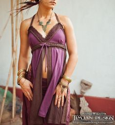 ORGANIC HEMP TOP  Halter Lace Faery Fairy Pixie by TimjanDesign, kr380.00