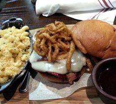 Chef Explorer KC -  Looks like @aroundblockkc had a good idea like we did with Q39's popular Burnt End Burger. Also had the Q Burger.