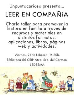 Charla formativa para LEER EN COMPAÑÍA dirigida a padres y maestros en el CEIP Nuestra Señora del Carmen de Ledesma (Salamanca). 21/02/2013