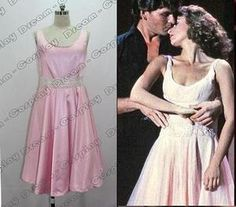 not pink and gray | Dirty Dancing Jennifer Grey Baby Pink Dress