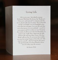 Living Life Print   Inspirational Art By Bonnie Mohr | Bonnie Mohr Studio  Store   Glencoe, MN   (320) 864 6642