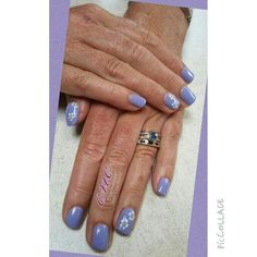 Shellac with hand painted flowers
