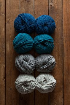 Coastal Andean Treasure Sampler - includes 8 balls of yarn, 2 per color.