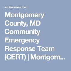 Montgomery County, MD Community Emergency Response Team (CERT) | Montgomery…