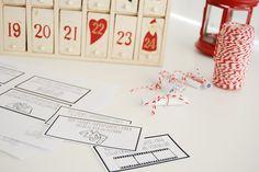 Vales con Superpoderes para rellenar el Calendario de Adviento. Imprimible incluido.
