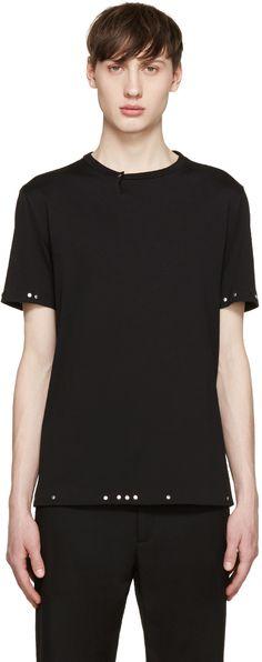 MAISON MARGIELA Black Studded T-Shirt. #maisonmargiela #cloth #t-shirt