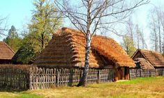 lamus dworski - Old types of strzechy (Polish for thatched roofs)...