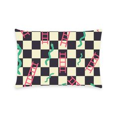 Snakes and Ladders Game New Pillow Case Pillow Inner Included side) Cushions, Pillows, Ladders, One Sided, Custom Bags, Snakes, Create Your Own, Pillow Cases, Game