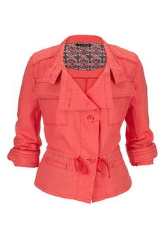 cinched waist linen jacket (original price, $49) available at #Maurices