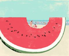 Christmas in summer. Illustration by Tatsuro Kiuchi.