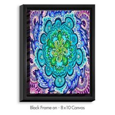 DiaNocheDesigns 'Mystic Mandala' by Rachel Brown Graphic Art on Wrapped Framed Canvas