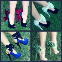 Decorate your heels with temporary pieces maybe and they could be removed :)