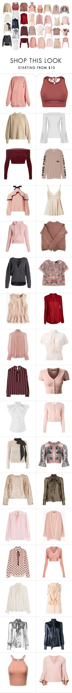 """♥"" by yourbaebehere on Polyvore featuring Acne Studios, The Row, Victoria's Secret, Alexis, Vetements, Vince, Needle & Thread, J.Crew, Velvet by Graham & Spencer and Isabel Marant"