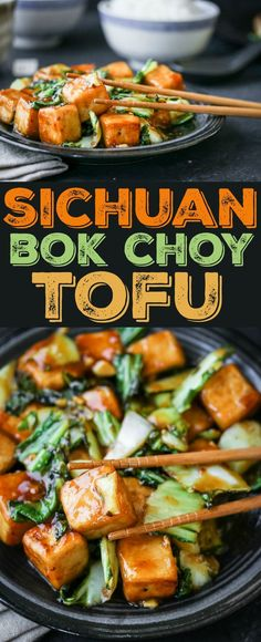 Easy Vegetarian Dinner Ideas You Can Make in 30 Minutes or Less recipe alert! Sichuan peppers add bold flavor to this tasty bok choy tofu recipe alert! Sichuan peppers add bold flavor to this tasty bok choy tofu stir-fry. Veggie Recipes, Asian Recipes, Whole Food Recipes, Vegetarian Recipes, Cooking Recipes, Healthy Recipes, Bok Choy Recipes, Recipes For Tofu, Cooking Tips