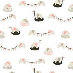 Cloud 9 House Designer - Nursery Flannel - Ele-fete in Shell