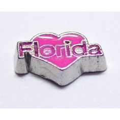 Love Florida Locket Charm that fits brands including Origami Owl & My Journey Locket. Enamel Love Florida on zinc alloy. Great looking charms that don't cost a fortune.