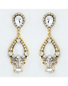 Perfect Details Haute Bride Mother of Pearl Small Chandelier Earrings - The Knot