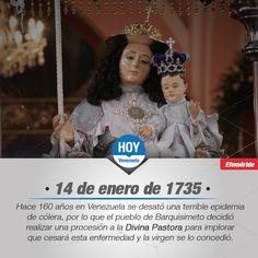 #UnDíaComoHoy 14 de Enero es el día de la virgen de la Divina Pastora