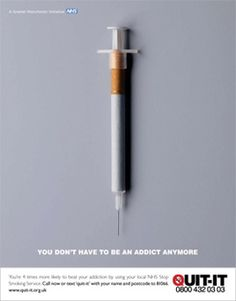Nicotine is on of the most Addictive substances known to man. Eventually you were convinced that you enjoyed it, when really you were simply ADDICTED. Now that you have quit, you are FREE!!
