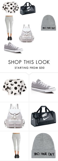 """work out  fit"" by jakiralofton ❤ liked on Polyvore featuring мода, Être Cécile, Converse, NIKE и Local Heroes"