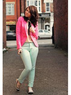 10 Ways To Wear Mint Green: Tips: teenvogue.com Pink & Green :)