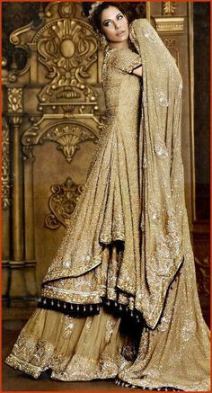 superb....gold middle eastern wedding dress. Incredible detail.
