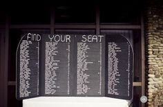 Find your seat