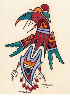 native american art Native American Symbols, Native American Paintings, Native American Design, Native American Artists, American Indian Art, American Indians, Southwestern Art, Inuit Art, Mythical Bird