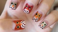 Easy Owl Nails For Fall. I must do this !! :D